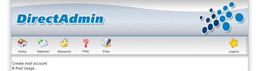 Direct Admin- Email account aanmaken